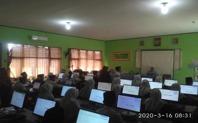Hari Pertama Pelaksanaan UAMBN-BK di MTsN 4 Tebo